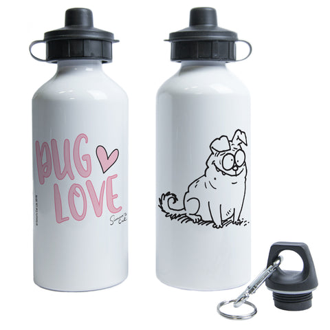 Pug Love Water Bottle - Simon's Cat Shop