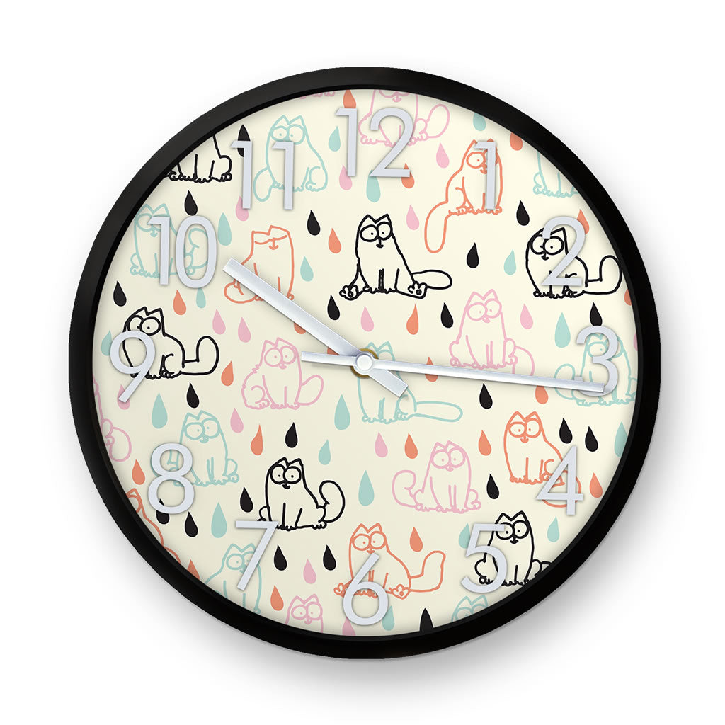 Simon's Cat Raindrops Clock - Simon's Cat Shop