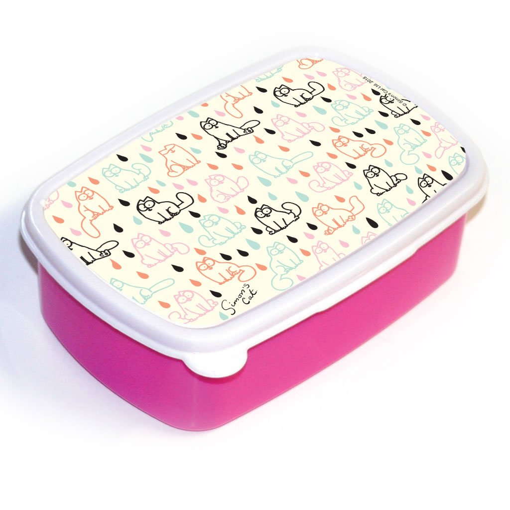 Simon's Cat Patterned Lunchbox (Pink) - Simon's Cat Shop