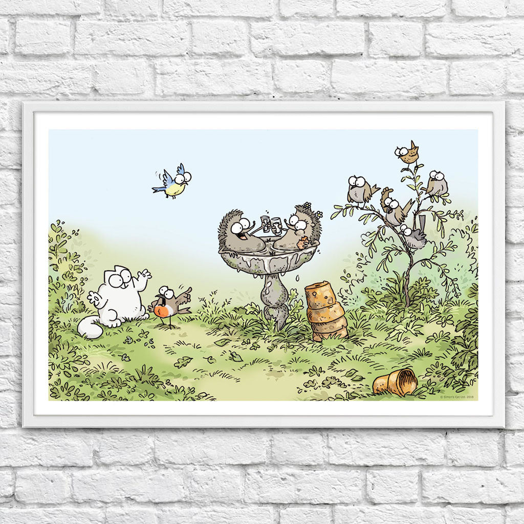 Hot Tub - Framed Art Print (61x40cm) - Simon's Cat Shop