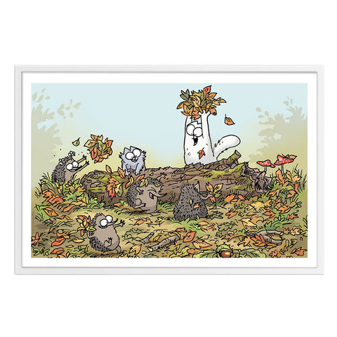 Simon's Cat Premium White Framed Print