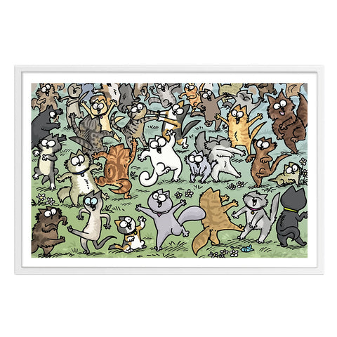 Party Felines - Framed Art Print (61x40cm) - Simon's Cat Shop
