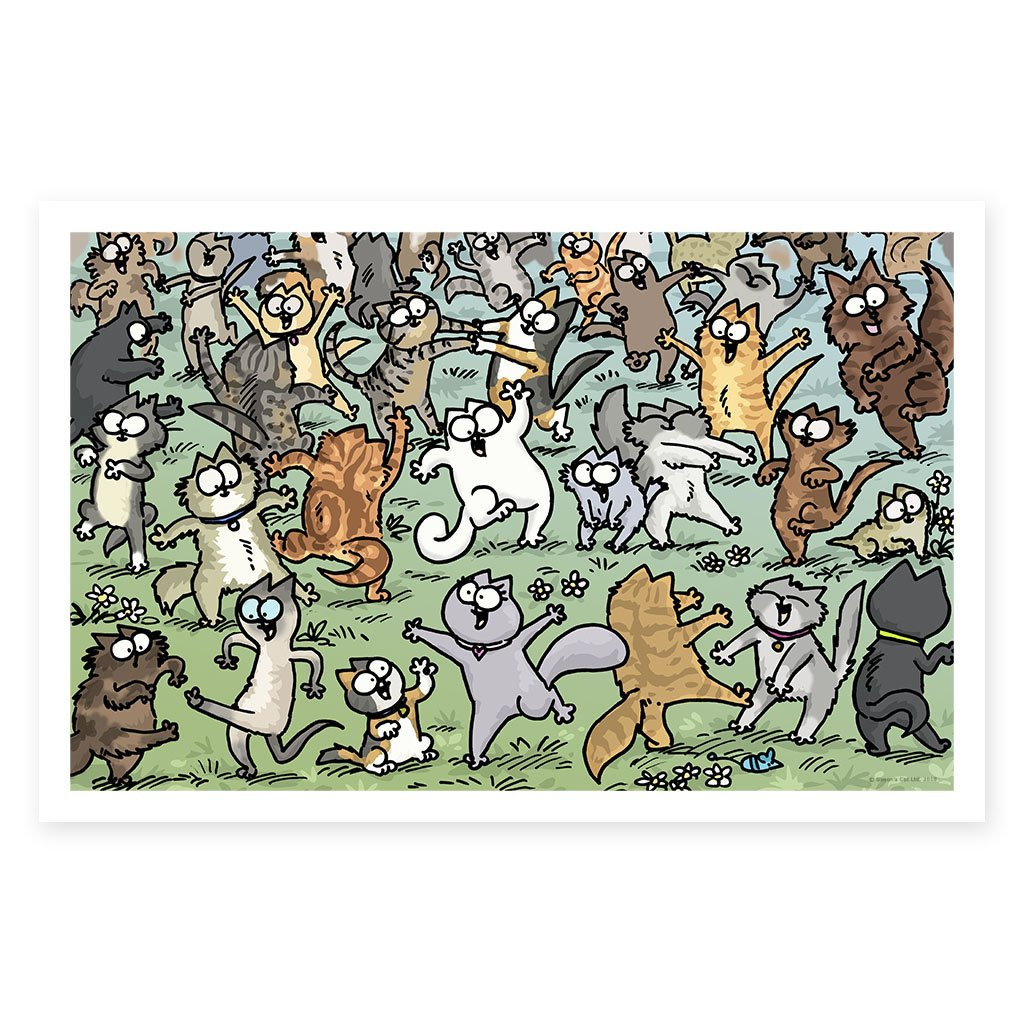 Party Felines - Framed Art Print (61x40cm)