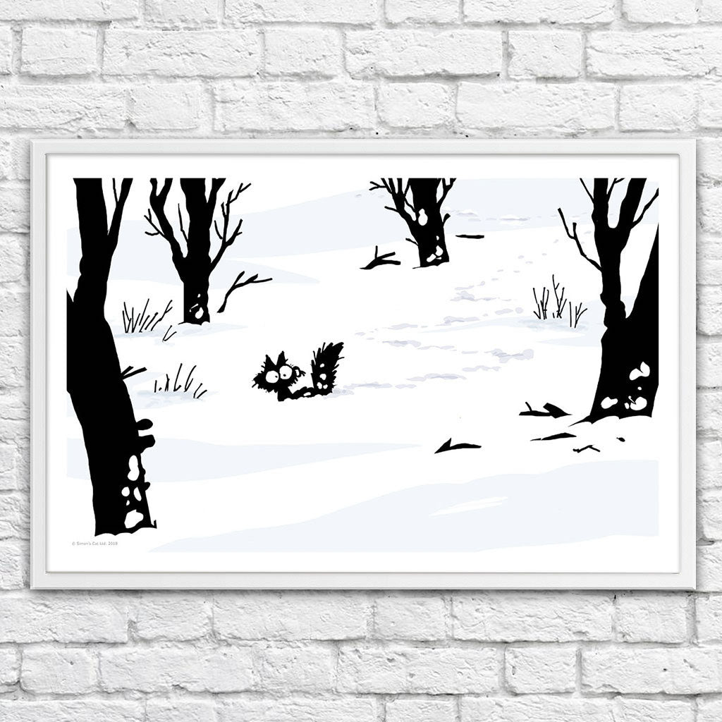 Snow Shoes - Framed Art Print (61x40cm) - Simon's Cat Shop