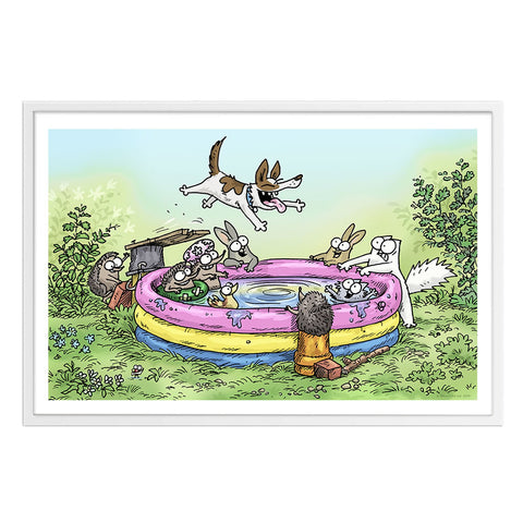 Splash Down - Framed Art Print (61x40cm) - Simon's Cat Shop