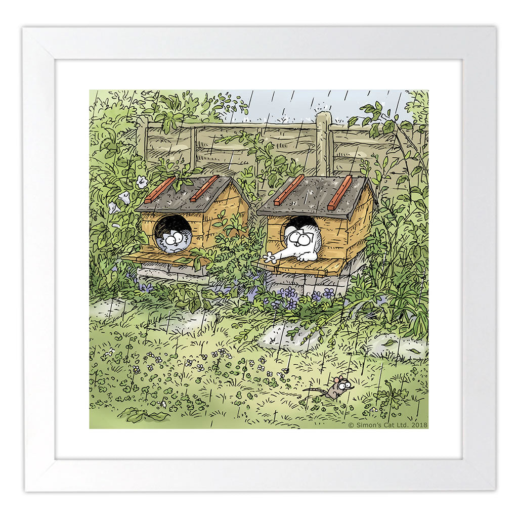 Simon's Cat Square Framed Art Print - Simon's Cat Shop