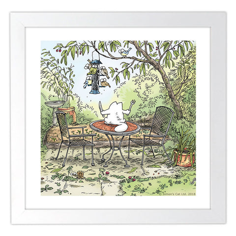 Simon's Dinnertime Cat Square Framed Art Print - Simon's Cat Shop
