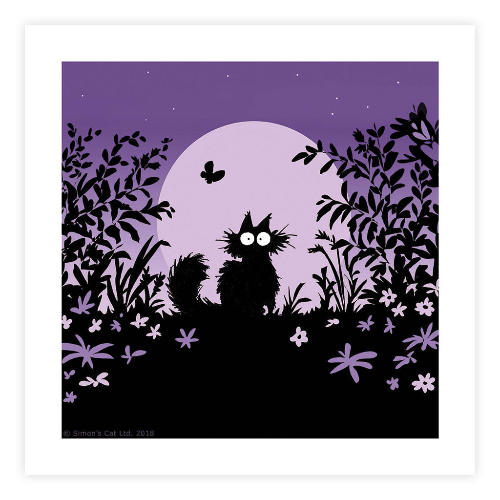 Simon's Nighttime Cat Square Framed Art Print - Simon's Cat Shop
