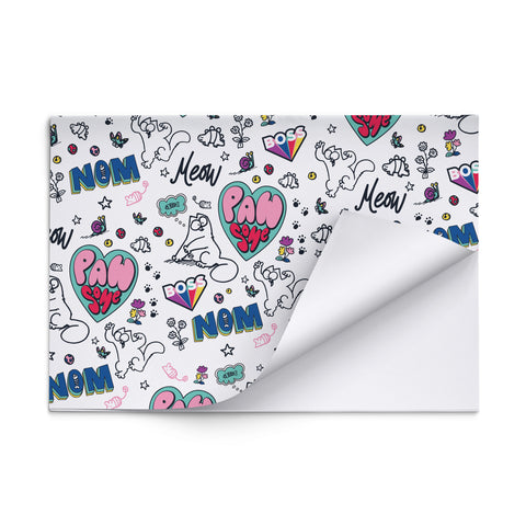 Simon's Cat White Gift Wrap - Simon's Cat Shop