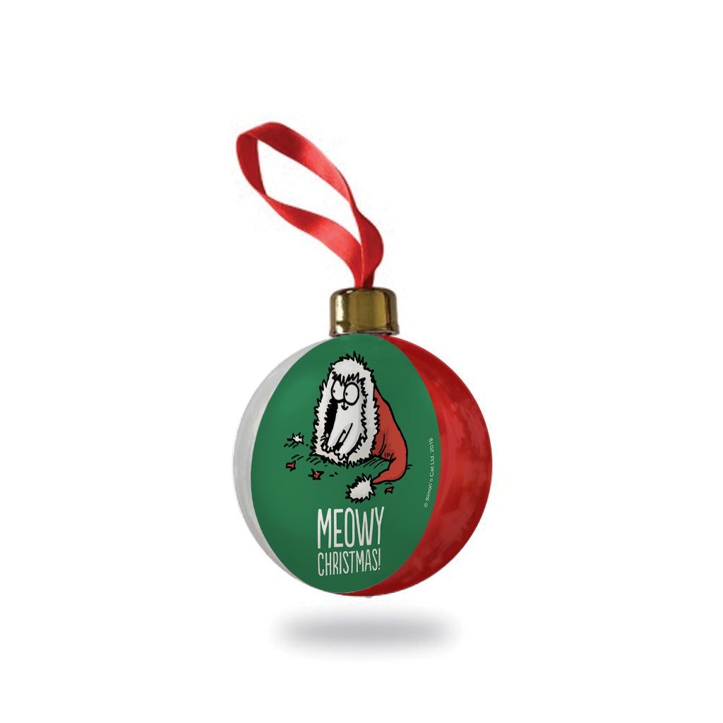 Simon's Cat Christmas Bauble - Green