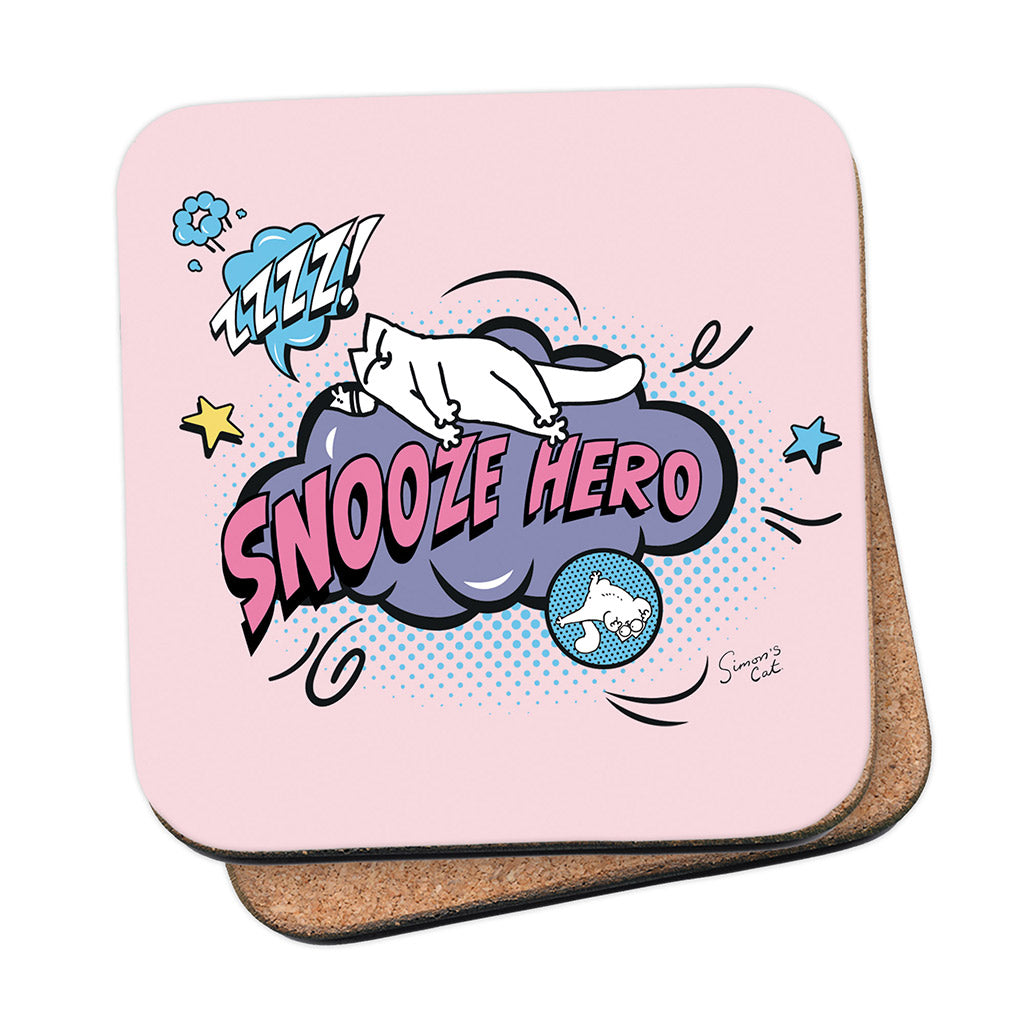 Simon's Cat Snooze Hero Coaster