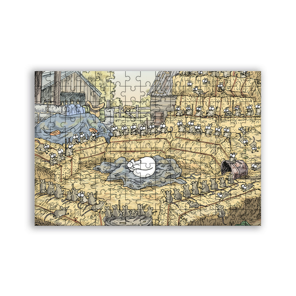 Simon's Cat Farm Mice 220pc Wooden Jigsaw Puzzle