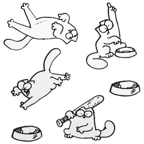 Simon's Cat Laptop Vinyl Sticker Set 1 - Simon's Cat Shop