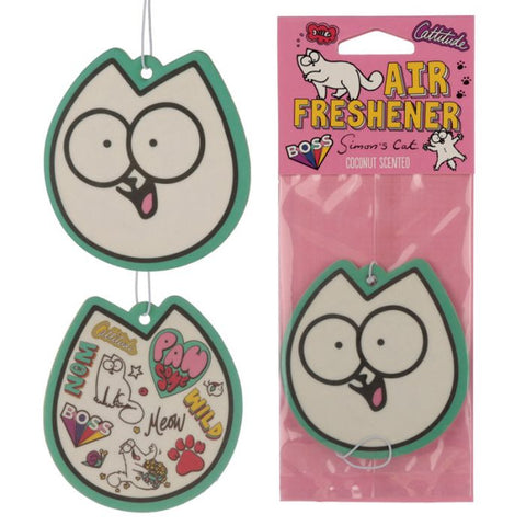 Simon's Cat Cat Face Air Freshener - Coconut - Simon's Cat Shop