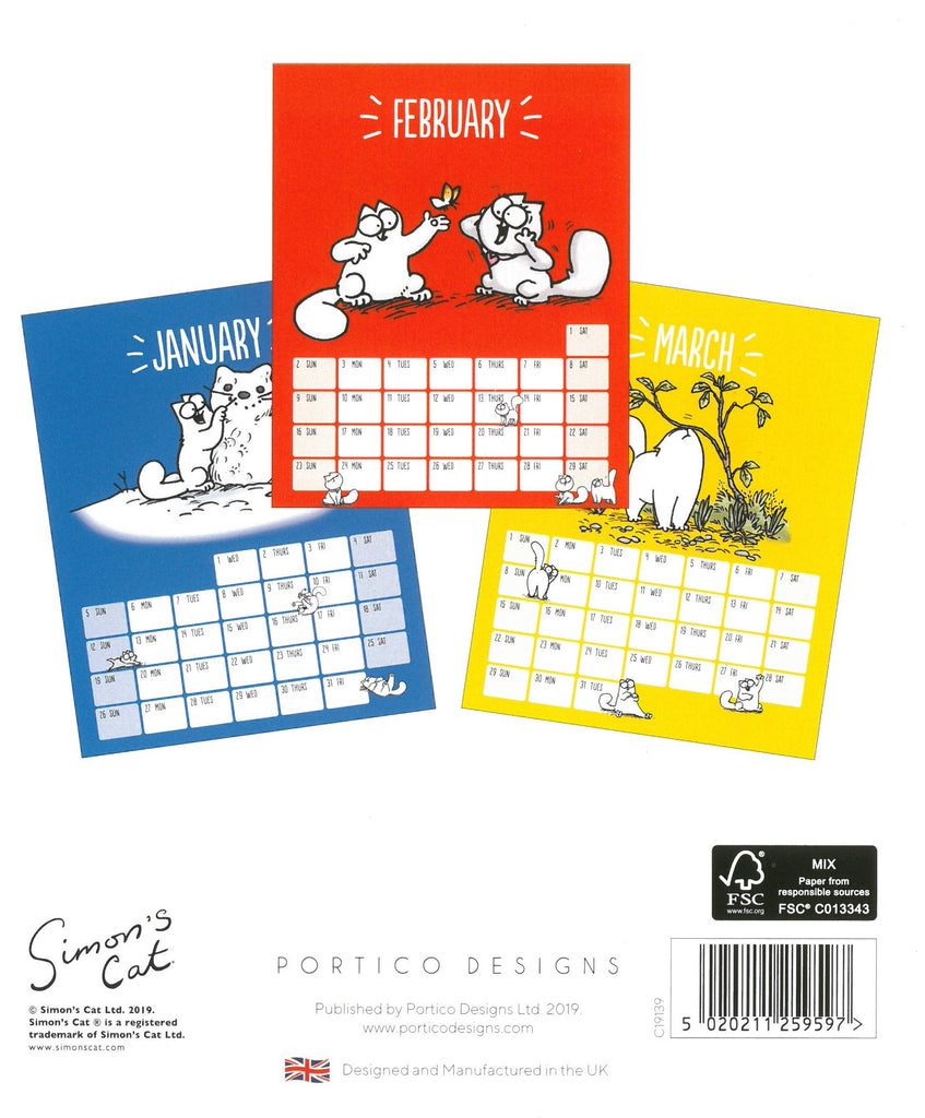 Simon's Cat 2020 Desk Calendar