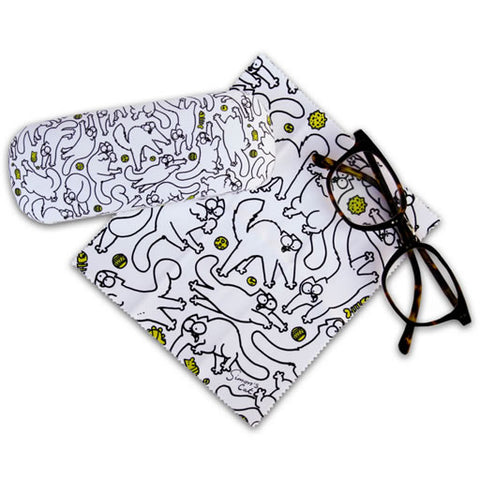 Simon's Cat Patterned Glasses Case - Simon's Cat Shop