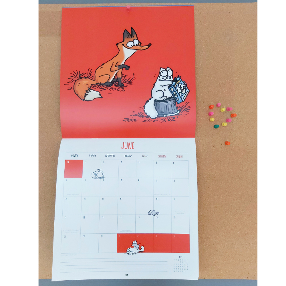 Simon's Cat 2021 Square Calendar
