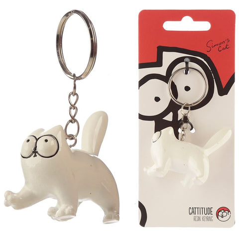 Simon's Cat Resin Keyring - Standing - Simon's Cat Shop