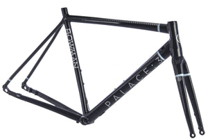 CLEARANCE - PALACE 3 BLACK SILVER 56CM FRAMESET