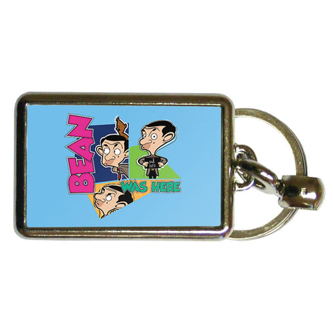 Bean Was Here Metal Keyring