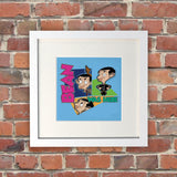 Bean Was Here White Framed Print (Lifestyle)