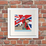 Big Bean White Framed Print (Lifestyle)