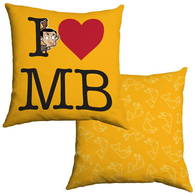 I Heart Mr Bean Cushion