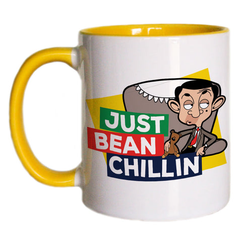 Just Bean Chillin Coloured Insert Mug