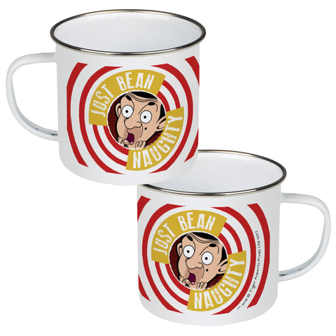 Just Bean Naughty Enamel Mug