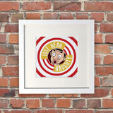Just Bean Naughty White Framed Print (Lifestyle)