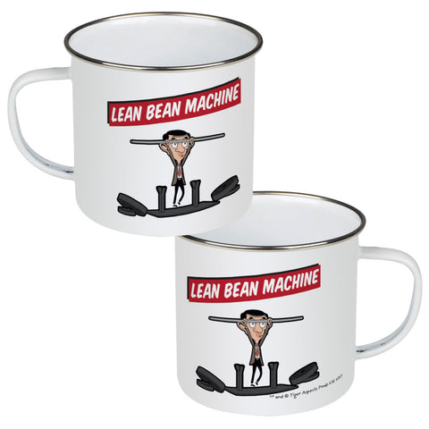 Lean Bean Machine Enamel Mug