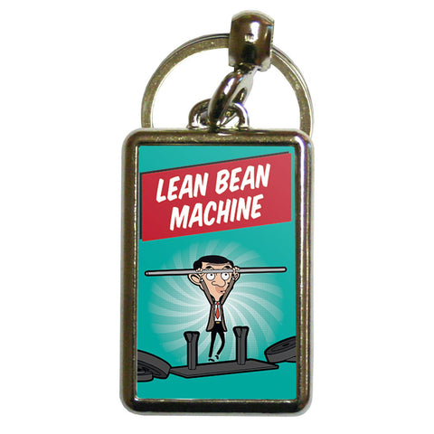 Lean Bean Machine Metal Keyring