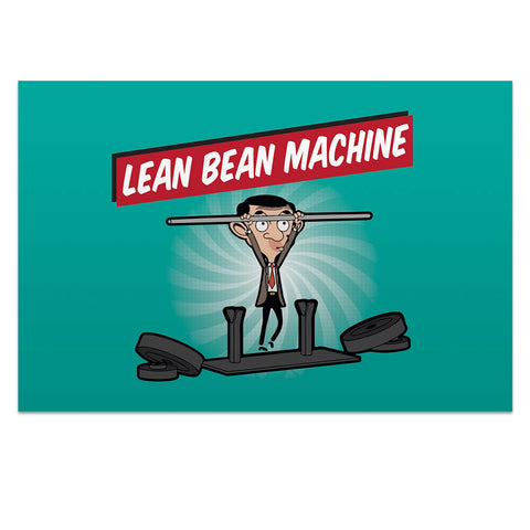 Lean Bean Machine Postcard pack
