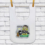 Sometimes It's Cool To Be Uncool Baby Bib (Lifestyle)