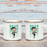 Bean Thumbs Up Enamel Mug (Lifestyle)