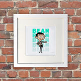 Bean Thumbs Up White Framed Print (Lifestyle)