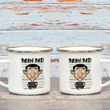 Bean Bad Enamel Mug (Lifestyle)