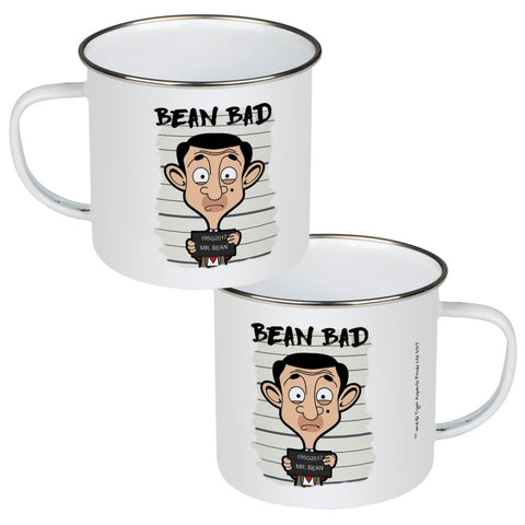Bean Bad Enamel Mug