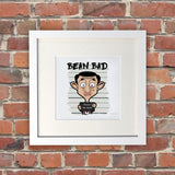 Bean Bad White Framed Print (Lifestyle)