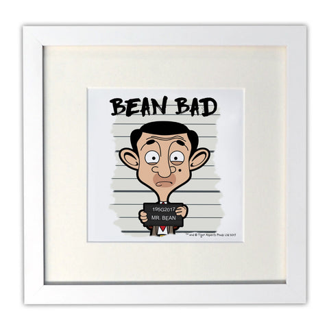 Bean Bad Mounted Art Print