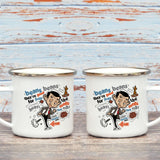 Bean beans, good for your heart Enamel Mug (Lifestyle)