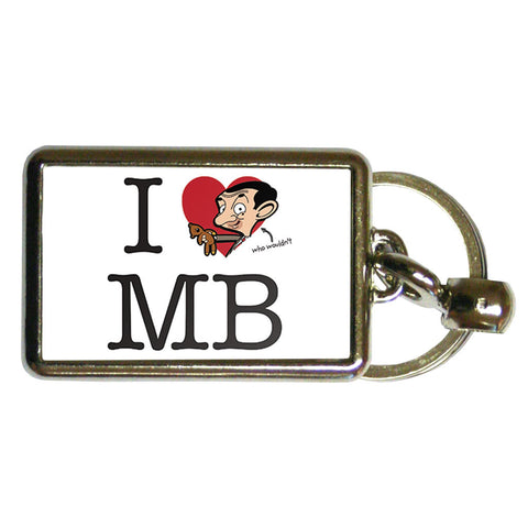 I Heart MB Metal Keyring
