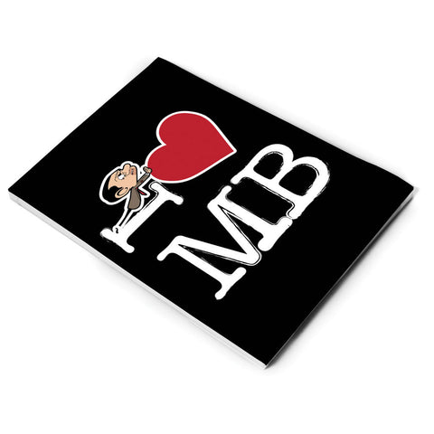 Black I Heart Mr Bean A5 Notepad