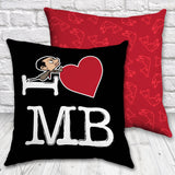 Black I Heart Mr Bean cushion (Lifestyle)