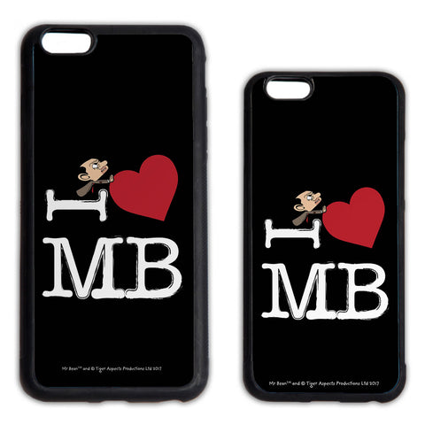 Black I Heart Mr Bean Phone case