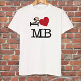 Black I Heart Mr Bean T-Shirt (Lifestyle)