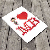 White I Heart Mr Bean A5 Notepad (Lifestyle)