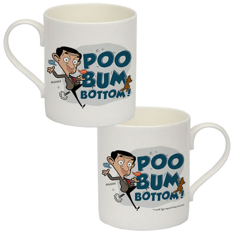 Poo Bum Bottom Bone China Mug