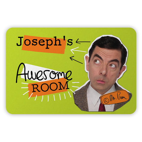Personalised Awesome Bean Metal Sign