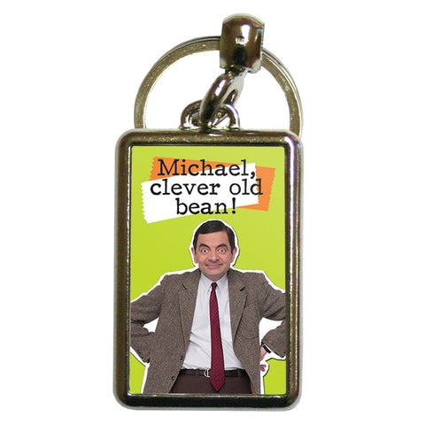 Clever Old Bean Metal Keyring
